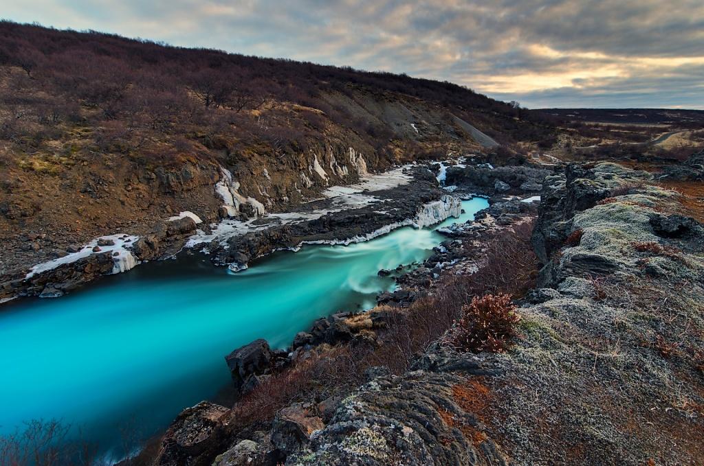 Hvítá River, Barnafoss (Children's falls)